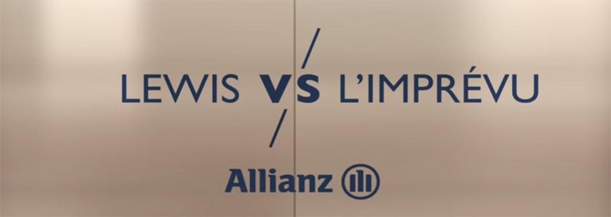 Le pilote Lewis Hamilton présent dans la nouvelle campagne d'Allianz France
