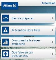 Pour pratiquer les sports d'hiver en toute sécurité, téléchargez l'appli « Info Neige by Allianz »