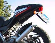 Des motards ont utilisé des plaques d'immatriculation mobiles