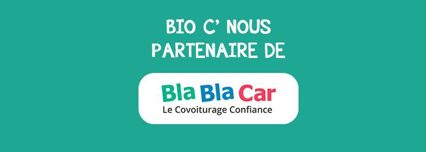 Un partenariat entre Bio c' Bon et Blablacar