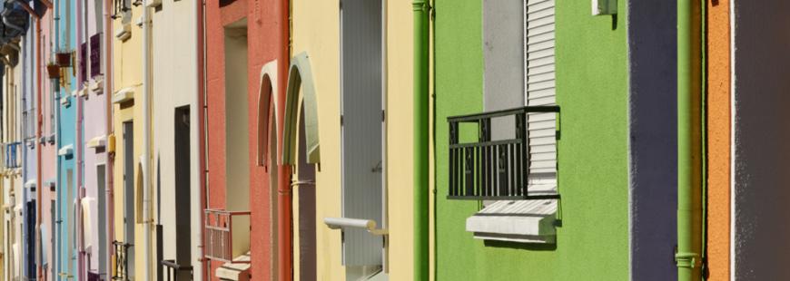 Une rue de Brest, dont les façades ont déjà été repeintes (crédit photo : JYGuillaume pour brest.fr)