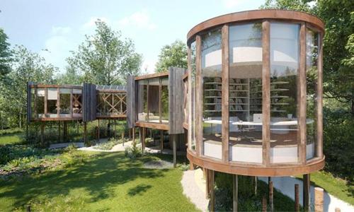 Voici le projet de la cabane en bois dans la forêt