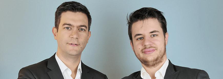 Insurly a été fondée par David Dumont (CEO, à gauche) et Nicolas Rusig (CTO, à droite)