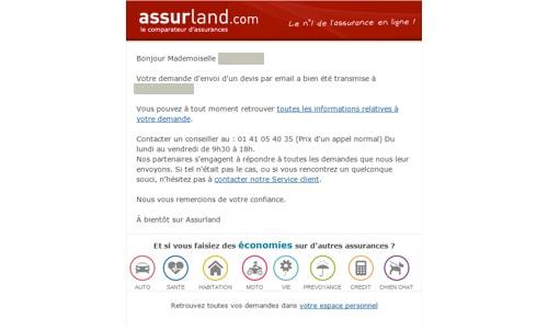 devis d'assurance sur Assurland.com