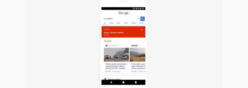 Comment nous aide le service de Google « SOS Alerts » ?