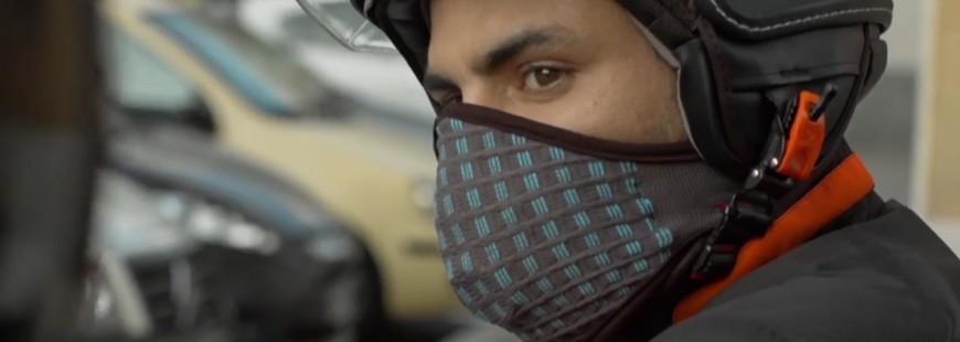 Un masque pour éviter la pollution à deux-roues