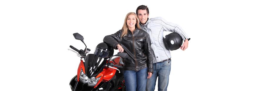Les principaux éléments d'équipement moto