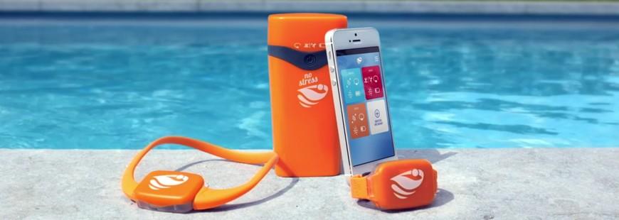 Le collier et le bracelet No Stress sont reliés directement au smartphone