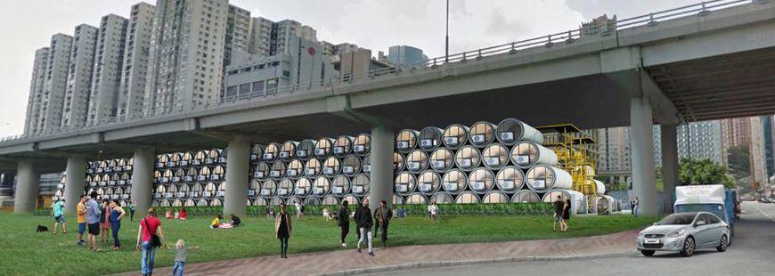 Des appartements tuyaux pour mieux se loger à Hong Kong
