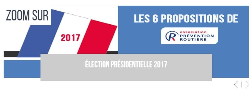 Présidentielle 2017 : Prévention Routière en appelle aux candidats