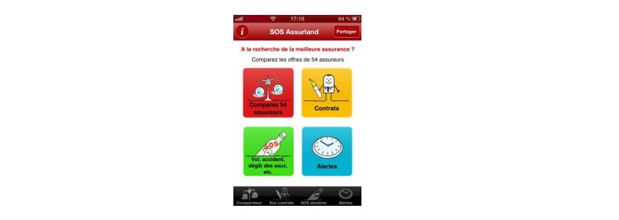 Téléchargez gratuitement l'appli SOS Assurland pour votre iPhone ou votre Android !