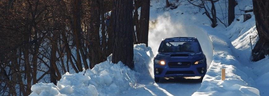 Une Subaru se prend pour un bobsleigh en piste !