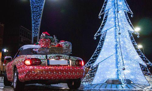 La voiture de Noël de Jordan